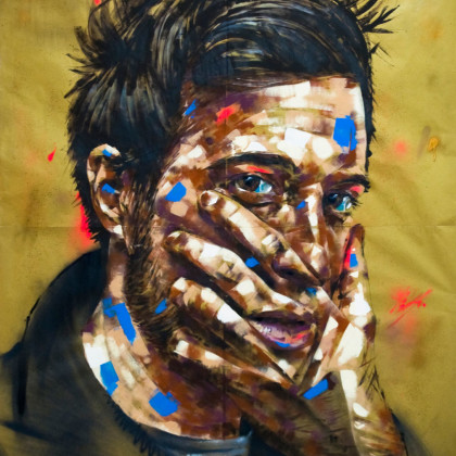 ALDO - Spray paint and acrylic on paper - 150x200cm - 2011