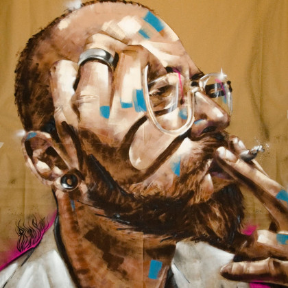 MATTIA - Spray paint and acrylic on paper - 150x200cm - 2010