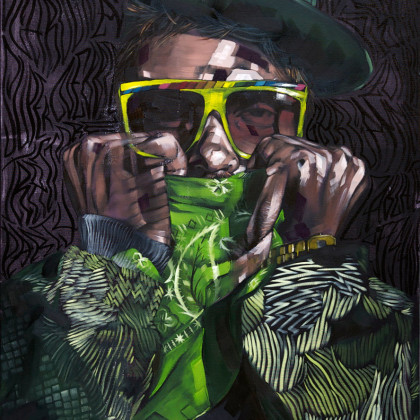 EL EURO - Spray paint and oil on canvas - 70x100cm - 2011