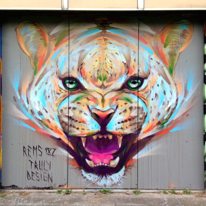 CHEETAH - Spray paint and acrylic on wall - 350x300cm - 2014