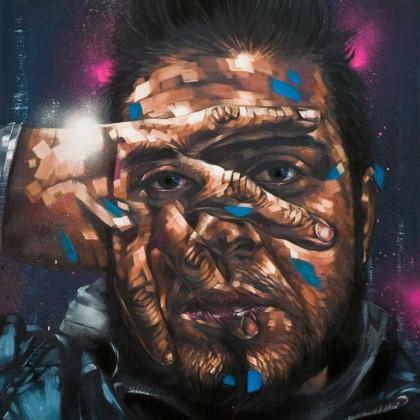FABRY - Spray paint and oil on canvas - 60x80cm - 2011
