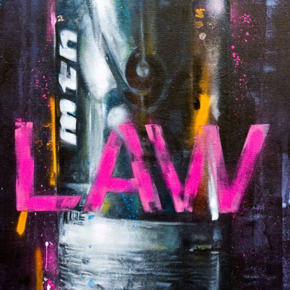 MONTANA94 - Spray paint and oil on canvas - 50x100cm - 2011