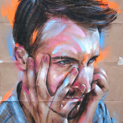 MAN23 - Spray paint and acrylic on paper - 150x200cm - 2012