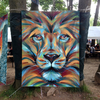 PEDRO THE LION - Spray paint and acrylic on canvas - 150x200cm - 2014