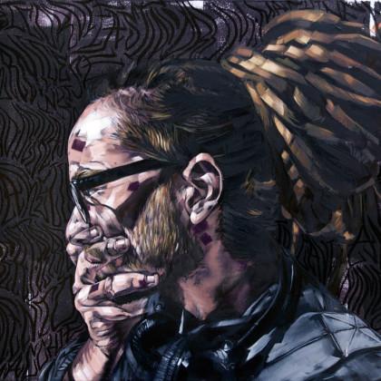 RASCAL - Spray paint and oil on canvas - 100x70cm - 2011