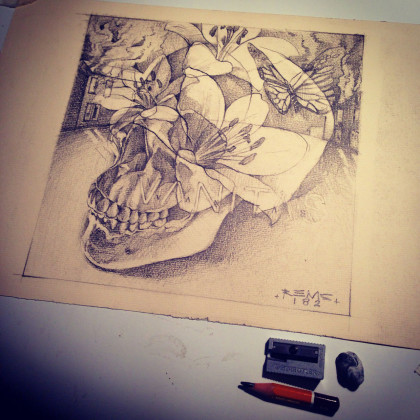VANITAS Sketch - Pencil on paper - 29,7x21cm - 2015