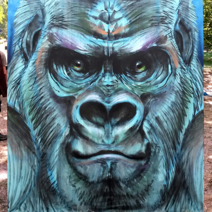 GORILLA - Spray paint and acrylic on wood - 200x200cm - 2015