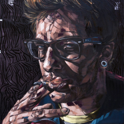 PIXELPANCHO - Spray paint and oil on canvas - 70x100cm - 2011