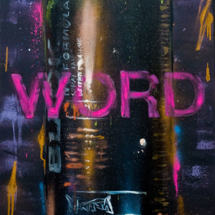 BLACK - Spray paint and oil on canvas - 50x100cm - 2011
