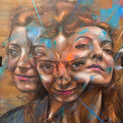 ORANGE - Spray paint and oil on wood - 83x100cm - 2013