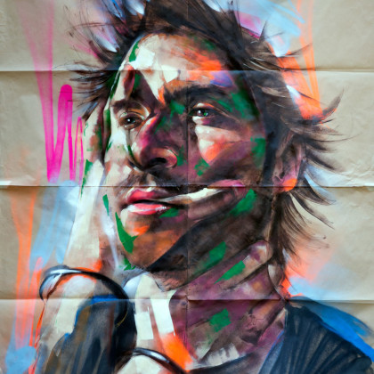 AMEDEO - Spray paint and acrylic on paper - 150x200cm - 2012