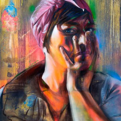 CARLOTTA - Spray paint and oil on canvas - 80x100cm - 2011