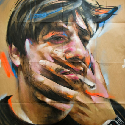 DONNY - Spray paint and acrylic on paper - 150x200cm - 2012