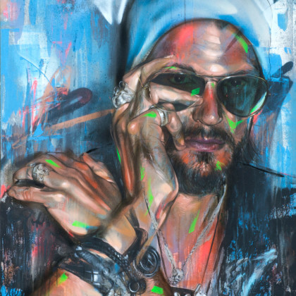MICHAEL 2 - Spray paint and oil on canvas - 80x100cm - 2012