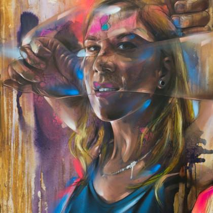 EME - Spray paint and oil on canvas - 80x100cm - 2012