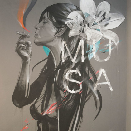 MUSA - Spray paint and acrylic on wall  - 250x400cm - 2015
