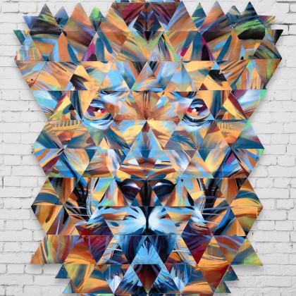 Decostruzione PEDRO THE LION - Spraypaint on canvas - 160x190cm - 2015