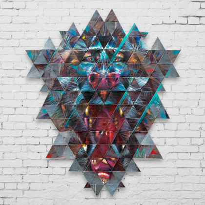 Decostruzione MANDRILL - Spraypaint on canvas - 90x110cm - 2015