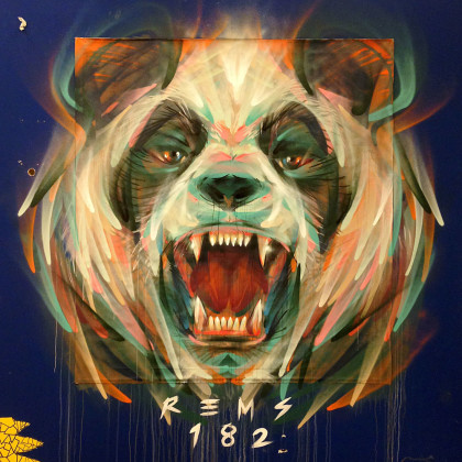 PANDA BEAR - Spray paint and acrylic on canvas - 150x200cm - 2015
