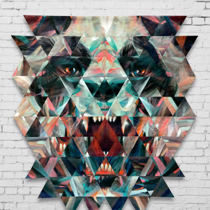 Decostruzione PANDA BEAR - Spraypaint on canvas - 190x215 - 2016
